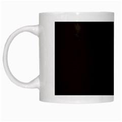 Dark Brown White Mugs