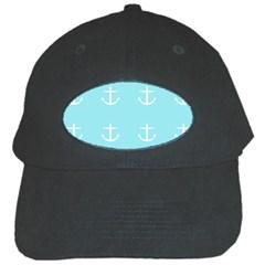 Aqua Anchor Black Cap