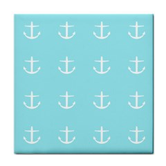 Aqua Anchor Tile Coasters