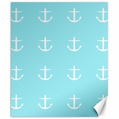 Aqua Anchor Canvas 20  X 24
