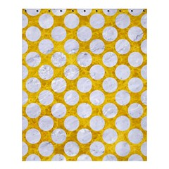 Circles2 White Marble & Yellow Marble Shower Curtain 60  X 72  (medium)