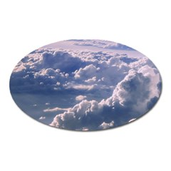 In The Clouds Oval Magnet