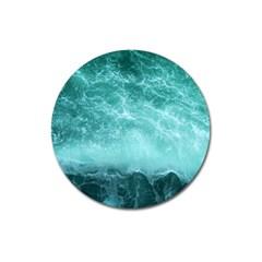 Green Ocean Splash Magnet 3  (round)