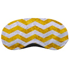 Chevron3 White Marble & Yellow Marble Sleeping Masks
