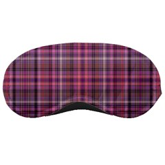 Pink Plaid Sleeping Masks