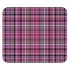 Pink Plaid Double Sided Flano Blanket (small)