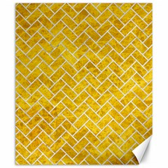 Brick2 White Marble & Yellow Marble Canvas 20  X 24