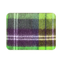 Neon Green Plaid Flannel Double Sided Flano Blanket (mini)
