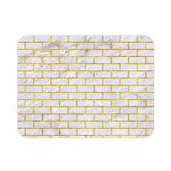 Brick1 White Marble & Yellow Marble (r) Double Sided Flano Blanket (mini)