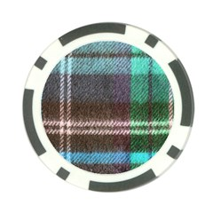 Blue Plaid Flannel Poker Chip Card Guard