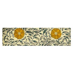 Japanese Floral Orange Satin Scarf (oblong)