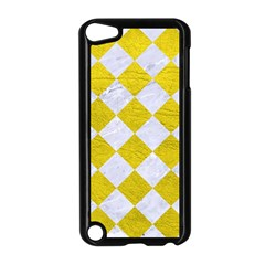 Square2 White Marble & Yellow Leather Apple Ipod Touch 5 Case (black)