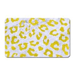 Skin5 White Marble & Yellow Leather Magnet (rectangular)