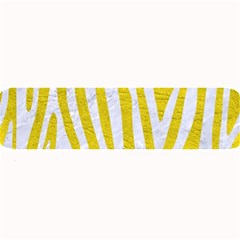 Skin4 White Marble & Yellow Leather (r) Large Bar Mats