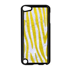 Skin4 White Marble & Yellow Leatherskin4 White Marble & Yellow Leather Apple Ipod Touch 5 Case (black)