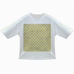 Scales3 White Marble & Yellow Leather (r) Infant/toddler T Shirts