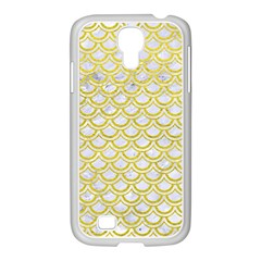 Scales2 White Marble & Yellow Leather (r) Samsung Galaxy S4 I9500/ I9505 Case (white)