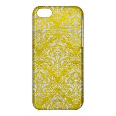 Damask1 White Marble & Yellow Leather Apple Iphone 5c Hardshell Case