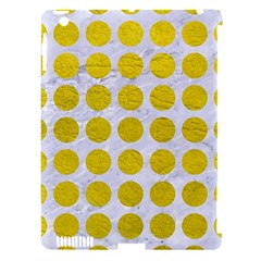 Circles1 White Marble & Yellow Leather (r) Apple Ipad 3/4 Hardshell Case (compatible With Smart Cover)