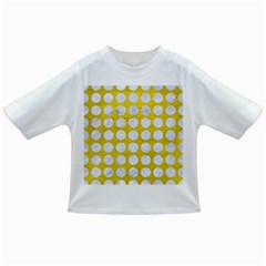 Circles1 White Marble & Yellow Leather Infant/toddler T Shirts