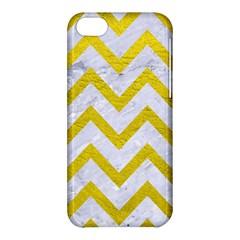 Chevron9 White Marble & Yellow Leather (r) Apple Iphone 5c Hardshell Case