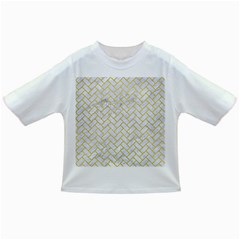 Brick2 White Marble & Yellow Leather (r) Infant/toddler T Shirts