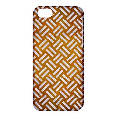 Woven2 White Marble & Yellow Grunge Apple Iphone 5c Hardshell Case