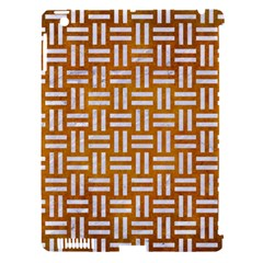 Woven1 White Marble & Yellow Grunge Apple Ipad 3/4 Hardshell Case (compatible With Smart Cover)