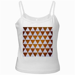 Triangle3 White Marble & Yellow Grunge Ladies Camisoles