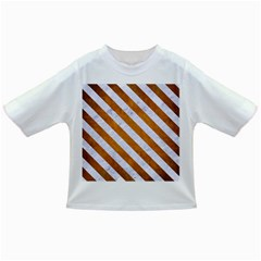 Stripes3 White Marble & Yellow Grunge Infant/toddler T Shirts