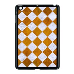 Square2 White Marble & Yellow Grunge Apple Ipad Mini Case (black)