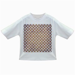 Scales3 White Marble & Yellow Grunge (r) Infant/toddler T Shirts