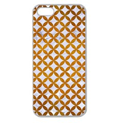 Circles3 White Marble & Yellow Grunge (r) Apple Seamless Iphone 5 Case (clear)