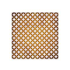 Circles3 White Marble & Yellow Grunge (r) Satin Bandana Scarf