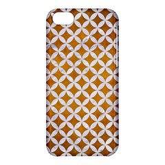Circles3 White Marble & Yellow Grunge Apple Iphone 5c Hardshell Case