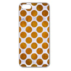 Circles2 White Marble & Yellow Grunge (r) Apple Seamless Iphone 5 Case (clear)