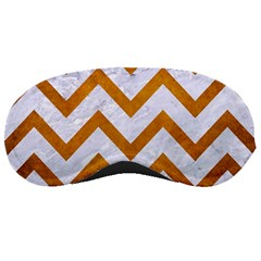 Chevron9 White Marble & Yellow Grunge (r) Sleeping Masks