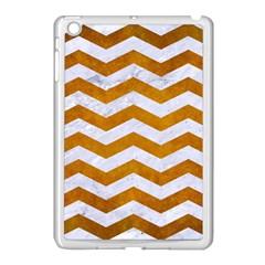 Chevron3 White Marble & Yellow Grunge Apple Ipad Mini Case (white)