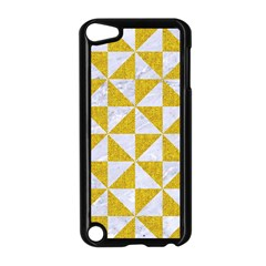 Triangle1 White Marble & Yellow Denim Apple Ipod Touch 5 Case (black)