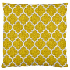Tile1 White Marble & Yellow Denim Standard Flano Cushion Case (one Side)
