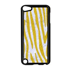 Skin4 White Marble & Yellow Denim Apple Ipod Touch 5 Case (black)