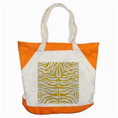 Skin2 White Marble & Yellow Denim (r) Accent Tote Bag