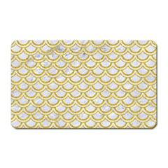 Scales2 White Marble & Yellow Denim (r) Magnet (rectangular)