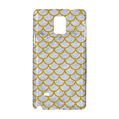 Scales1 White Marble & Yellow Denim (r) Samsung Galaxy Note 4 Hardshell Case