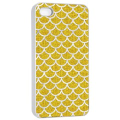 Scales1 White Marble & Yellow Denim Apple Iphone 4/4s Seamless Case (white)