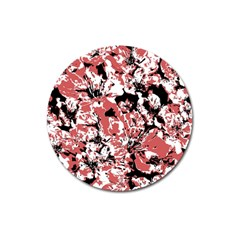 Textured Floral Collage Magnet 3  (round)