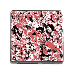 Textured Floral Collage Memory Card Reader (square)