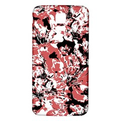 Textured Floral Collage Samsung Galaxy S5 Back Case (white)