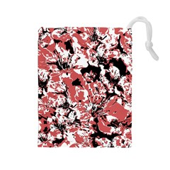 Textured Floral Collage Drawstring Pouches (large)