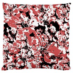 Textured Floral Collage Large Flano Cushion Case (two Sides)